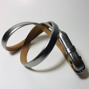 J.Crew Silver Leather Belt